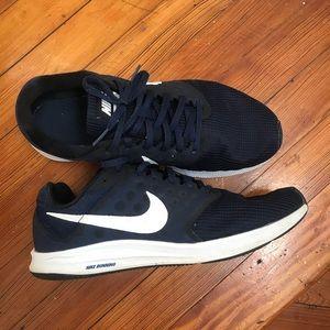 Nike men's downshift7 sneakers shoes navy 10